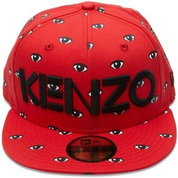Details about NEW ERA 59fifty BNWT KENZO X NEW ERA WHITE   BLACK ALL OVER  EYES red 22c4c666e47