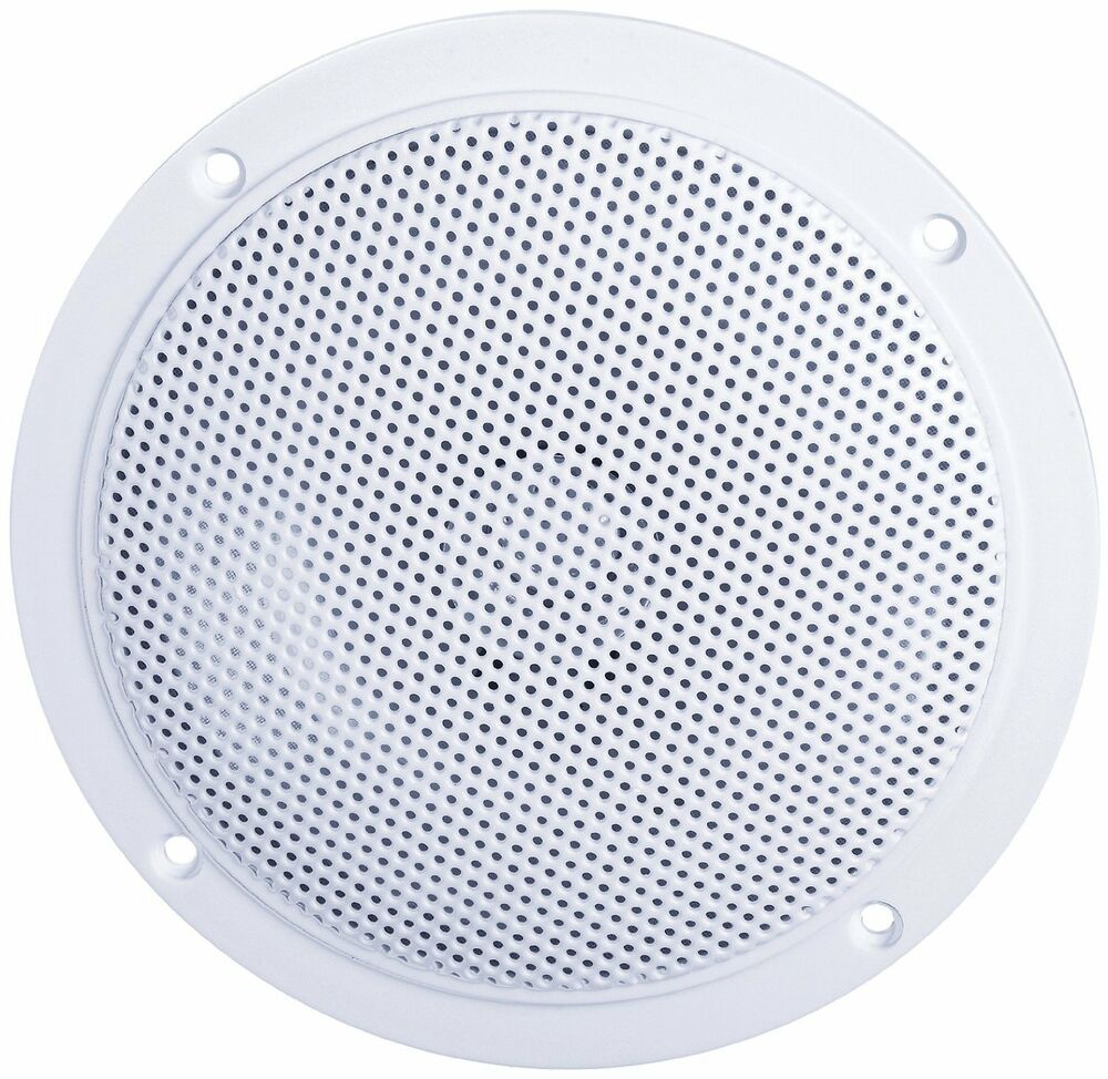 E audio round ceiling speakers with moisture resistant dual cone for home b300a ebay for Ceiling speakers for bathroom