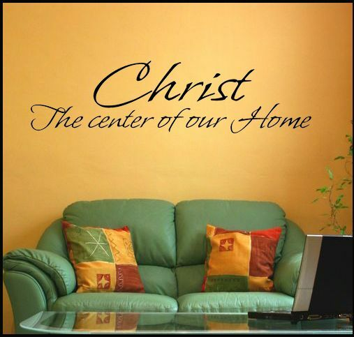 Christ the center of our home christian religious vinyl ...