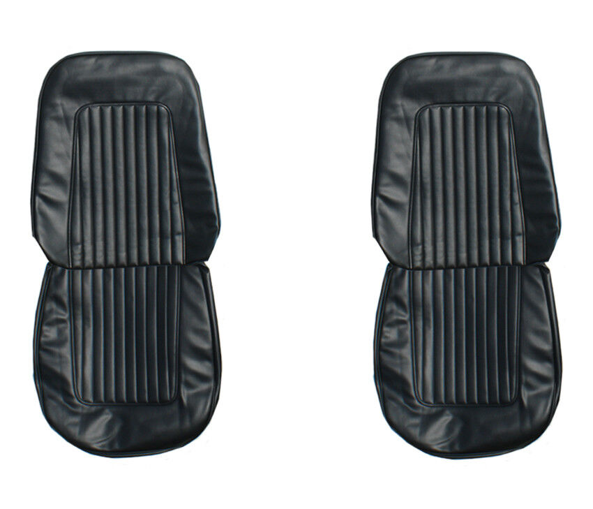 67 68 camaro front rear seat covers upholstery black standard pui new ebay. Black Bedroom Furniture Sets. Home Design Ideas