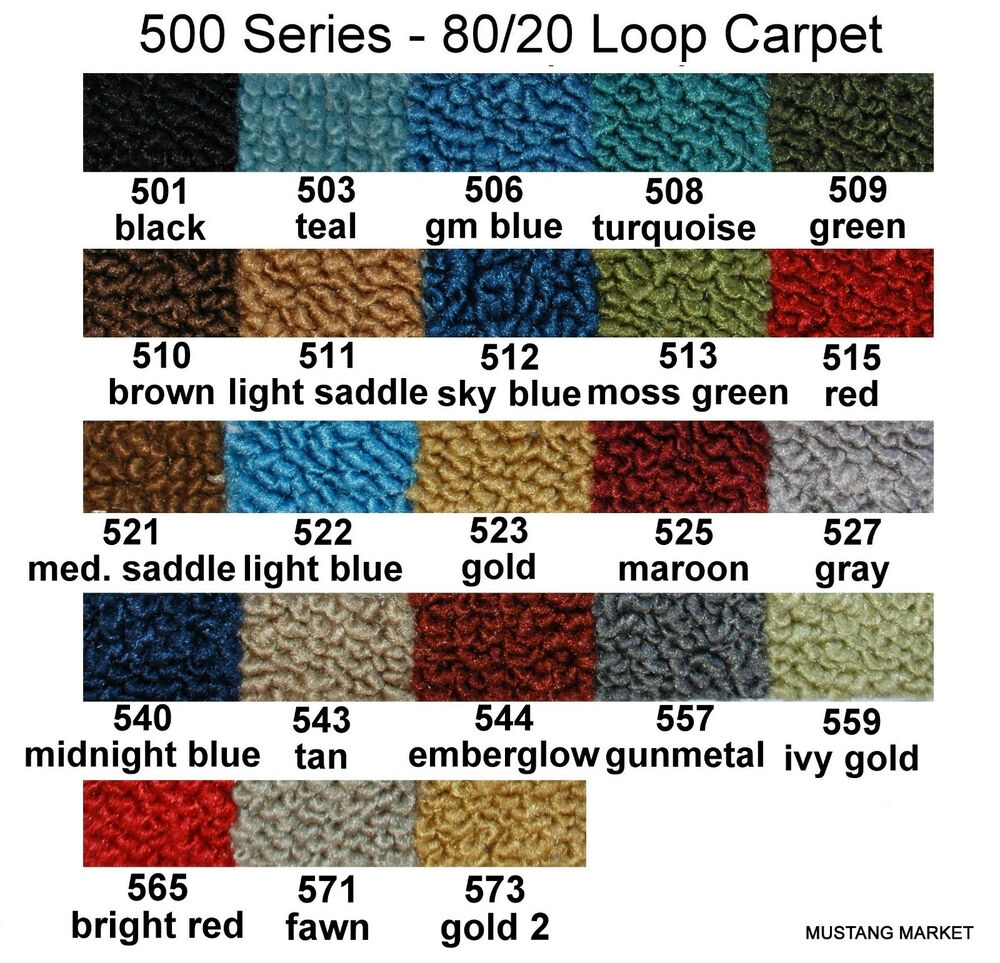 69 70 71 72 73 Galaxie Carpet 80 20 Loop As Original Ebay