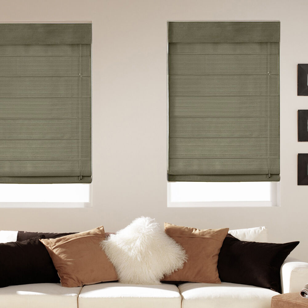 Light Filtering Fabric Roman Shades Five Colors Free