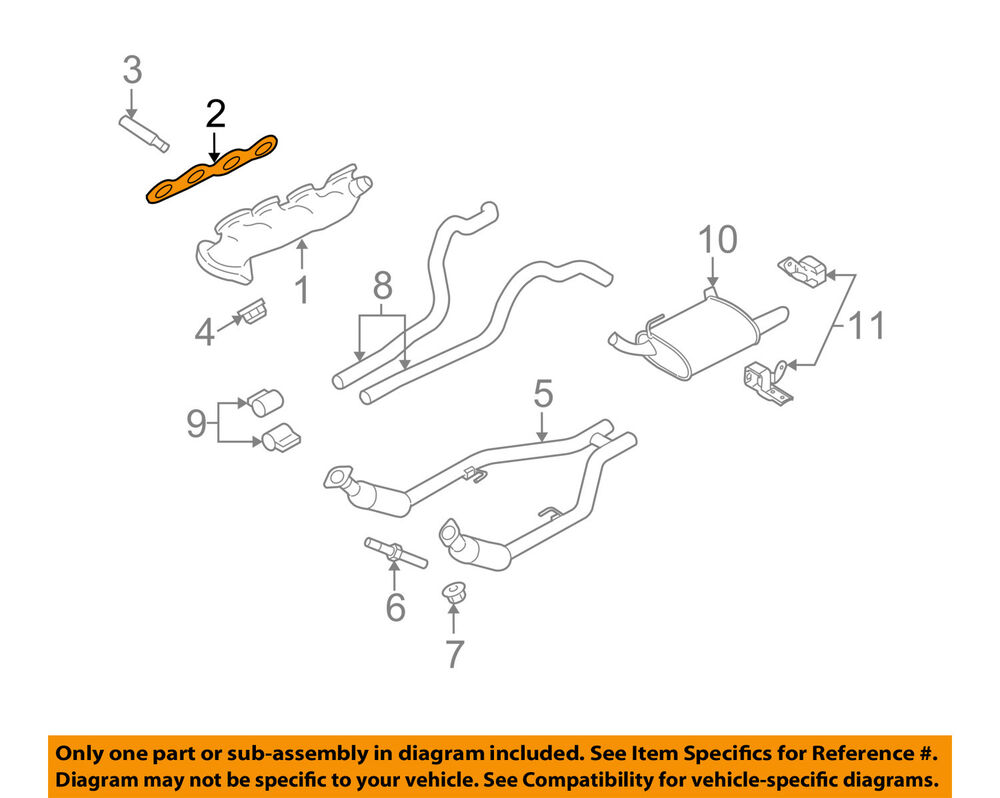 ford oem 07-12 mustang 5.4l-v8 exhaust manifold-manifold ... 58l exhaust manifold diagram