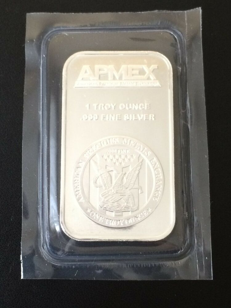 1 Oz Apmex Silver Bar 999 Fine 1 Troy Ounce Ebay