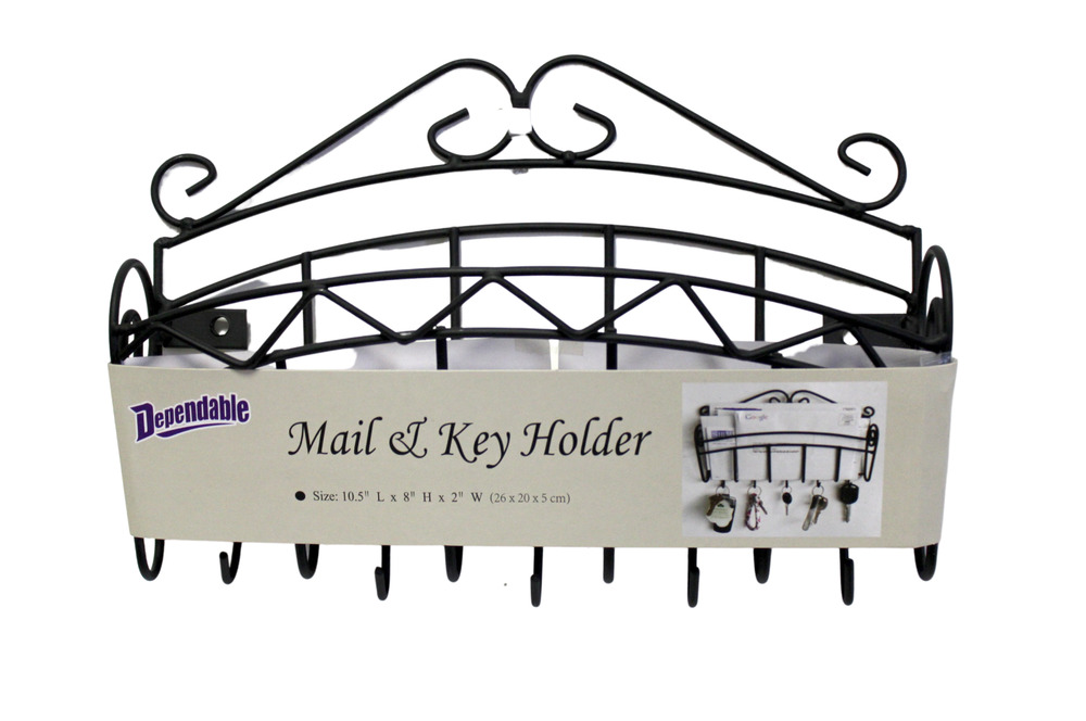 Aluminum Rack Manufacturers Mail: Key Rack Mail Holder Black Laquer Metal Sale Reduced Wall