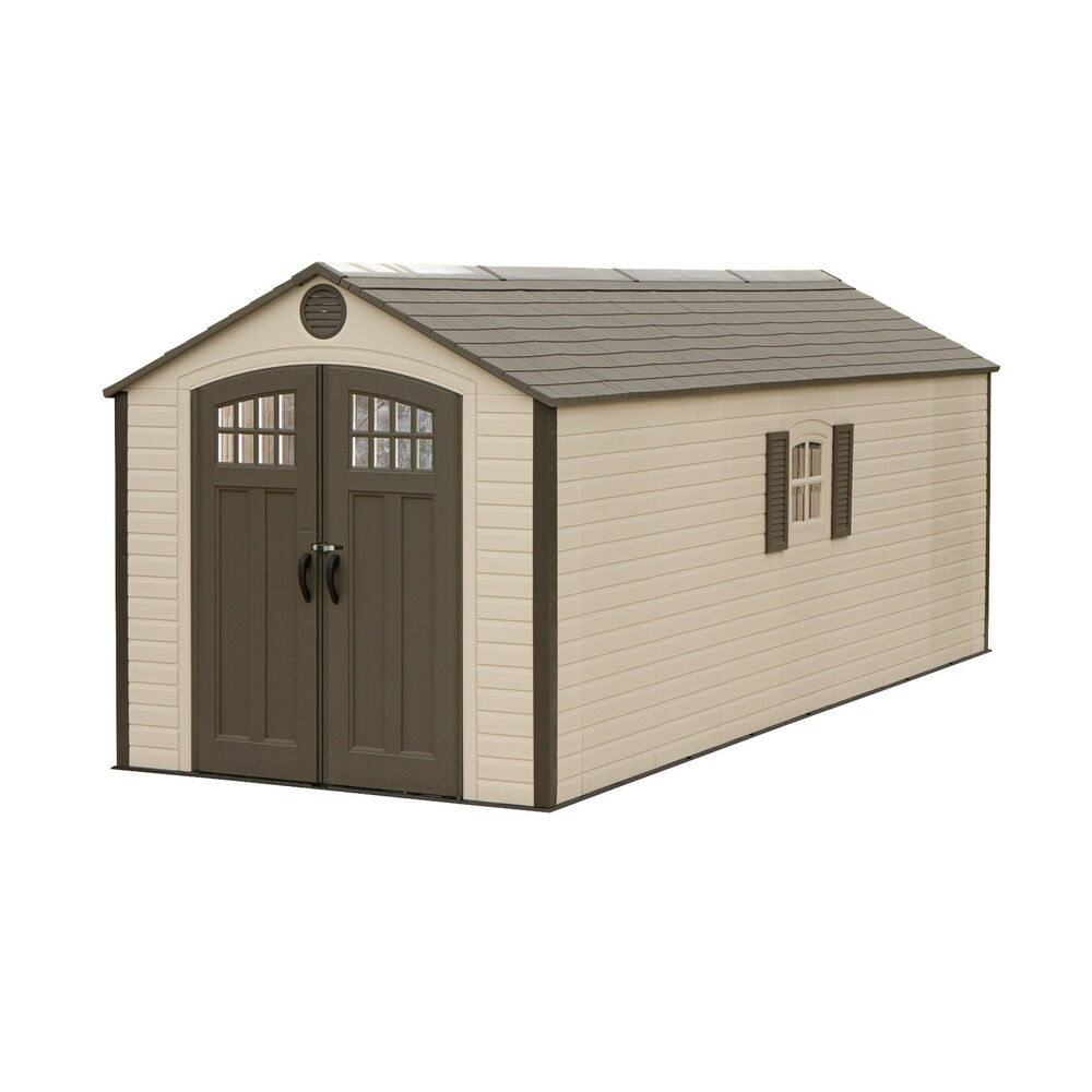 Lifetime buildings 8x20 outdoor storage shed kit w 2 for Outside storage shed