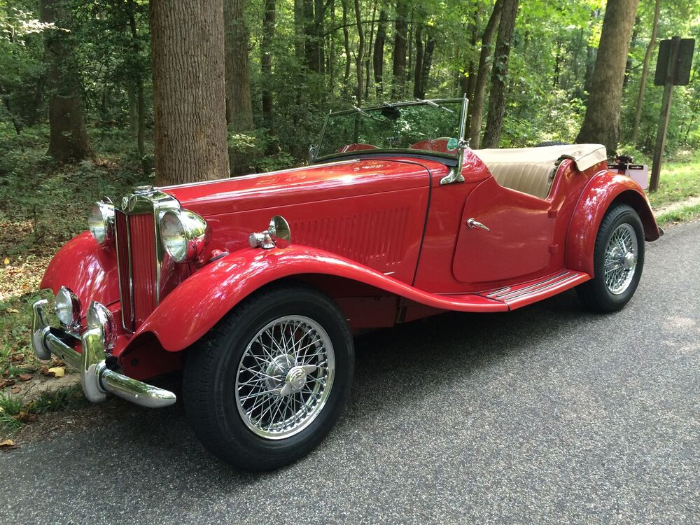 1953 mg td red over tan 4 speed manual wire chrome knock. Black Bedroom Furniture Sets. Home Design Ideas