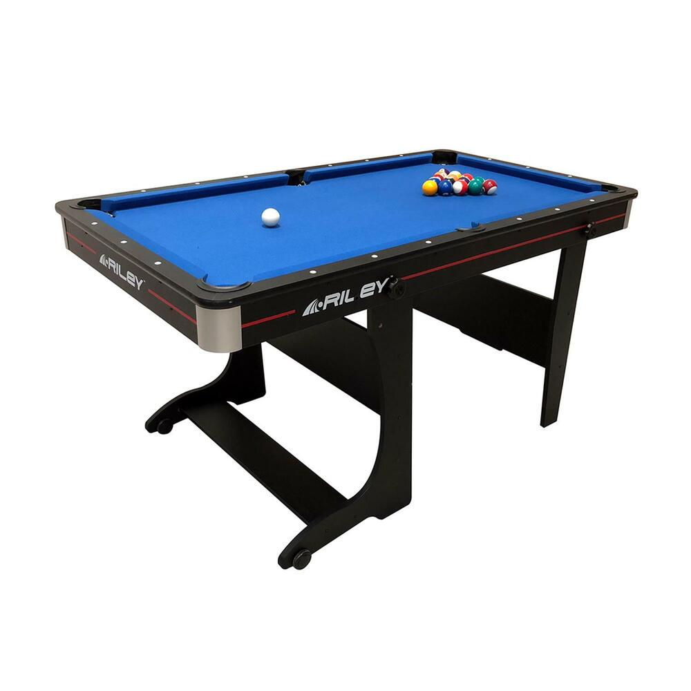 mobiler pool billard tisch mit zubeh r klappbar mit rollen billiardtisch neu ebay. Black Bedroom Furniture Sets. Home Design Ideas