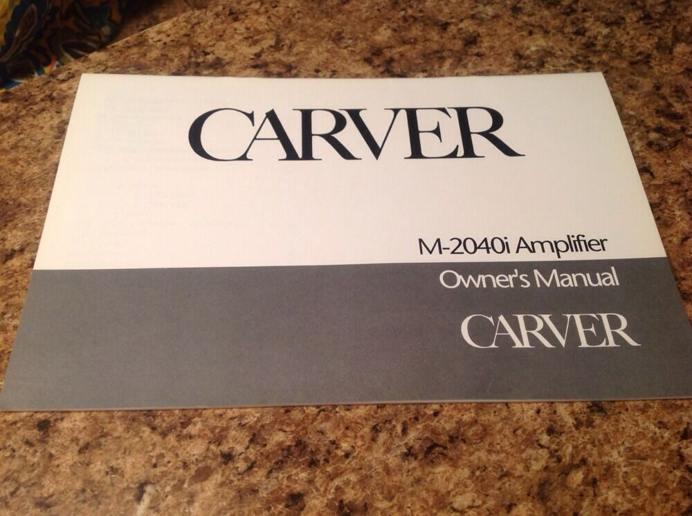 Carver mariner owners manual