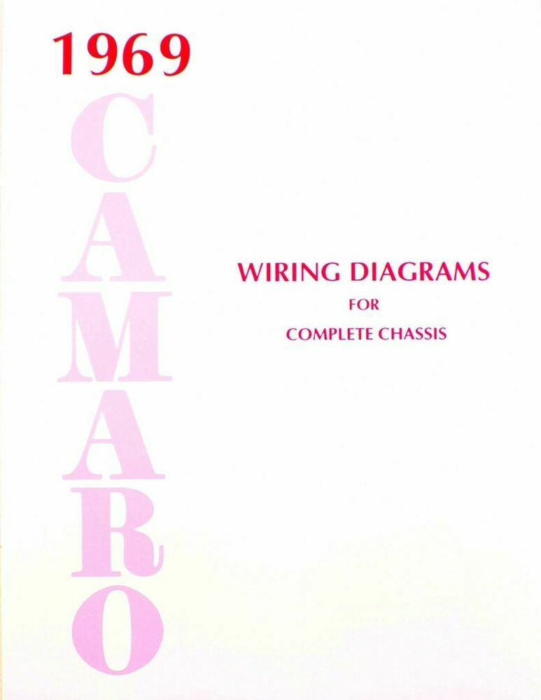 69 chevy camaro electrical wiring diagram manual 1969 | ebay 69 chevy ignition wiring #6