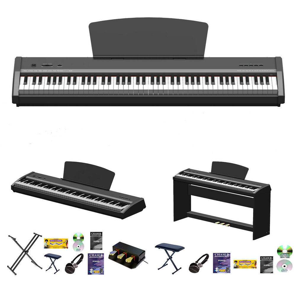 chase p 50 digital electric portable piano hammer action weighted keyboard c ebay. Black Bedroom Furniture Sets. Home Design Ideas