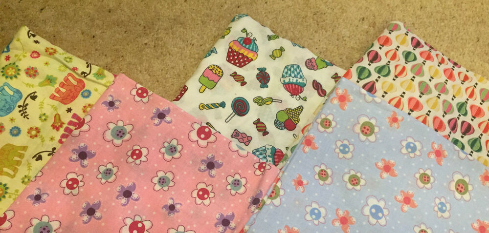 Kids fun patchwork craft fabric material bundle sweets for Childrens fabric bundles