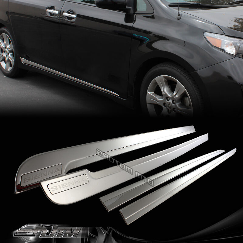 2016 Toyota Sienna Exterior: 4PCS Side Door Lower Molding Body Trim For 2011-2016