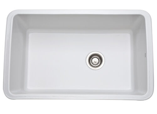 Undermount Utility Sink White : ... 00 ALLIA Fireclay Single Bowl Undermount Kitchen Sink in White eBay