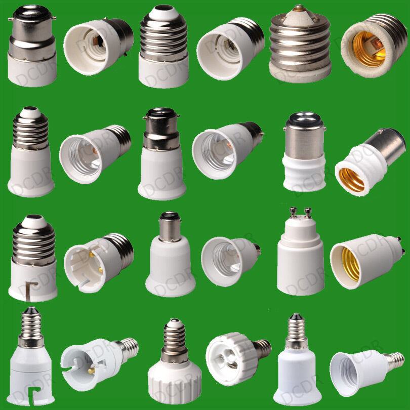 2 Pack Light Bulb Socket Adaptor Converter Lamp Holder Base Adapter Top Uk Stock Ebay