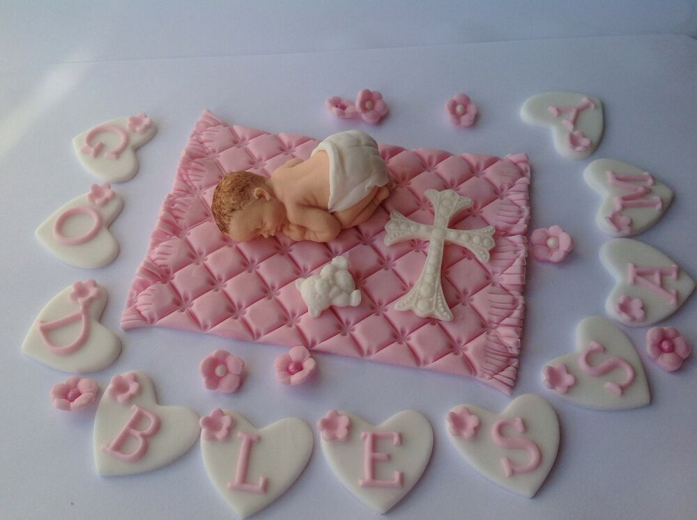 Cake Decorating Ideas For Baby Dedication : BABY GIRL / BABY BOY CHRISTENING / NEW BABY PERSONALISED ...