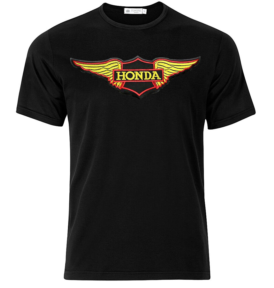 Honda motorcycle logo graphic cotton t shirt short long for Short sleeve t shirts with longer sleeves