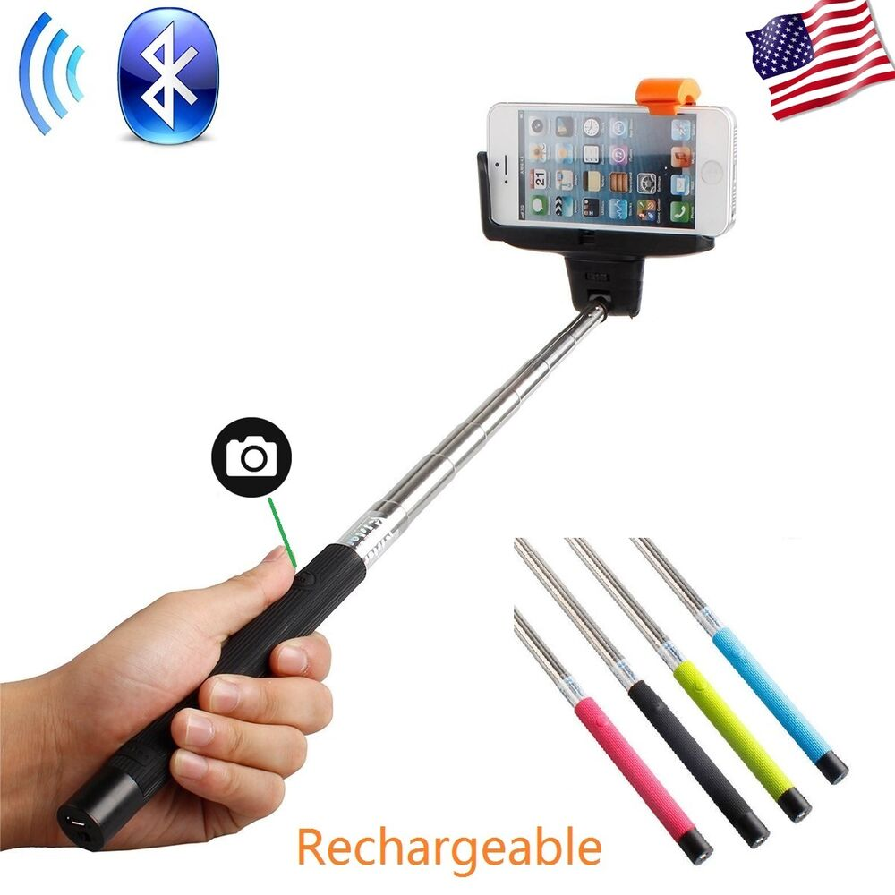 bluetooth shutter extendable handheld selfie stick monopod for samsung iphone 6 ebay. Black Bedroom Furniture Sets. Home Design Ideas