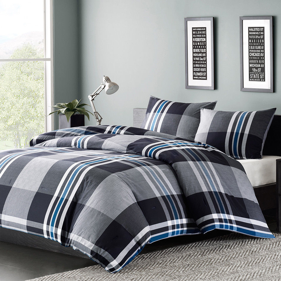 Mens boys teens bedding comforter set twin or full queen for Mens bedroom furniture sets