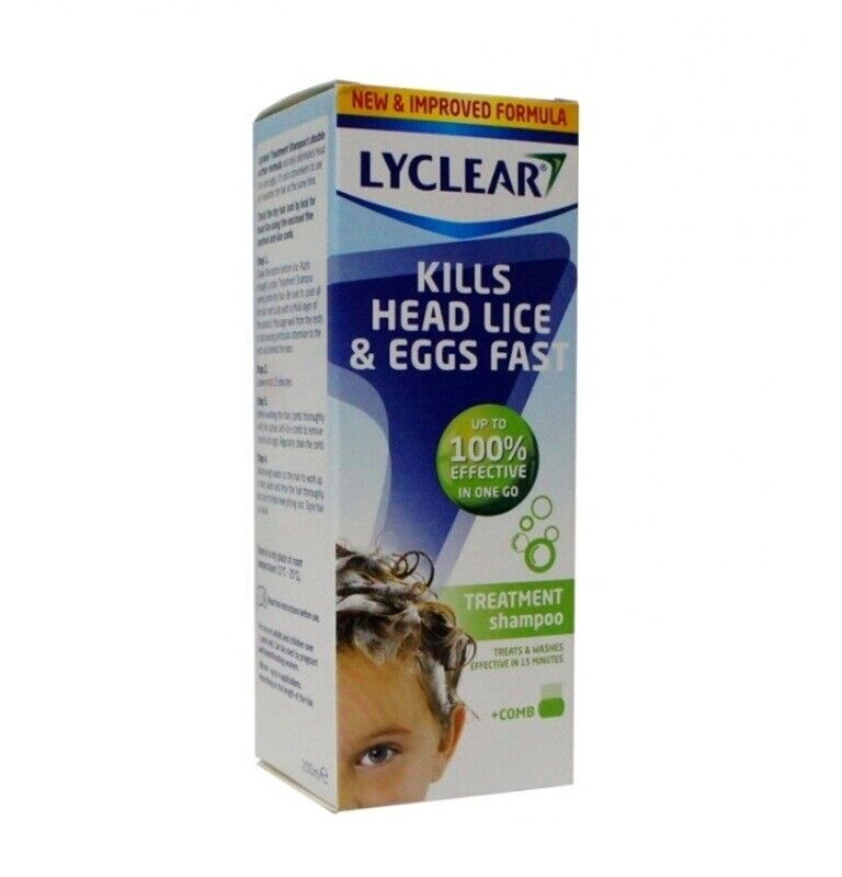 lyclear head lice treatment shampoo with comb 200ml
