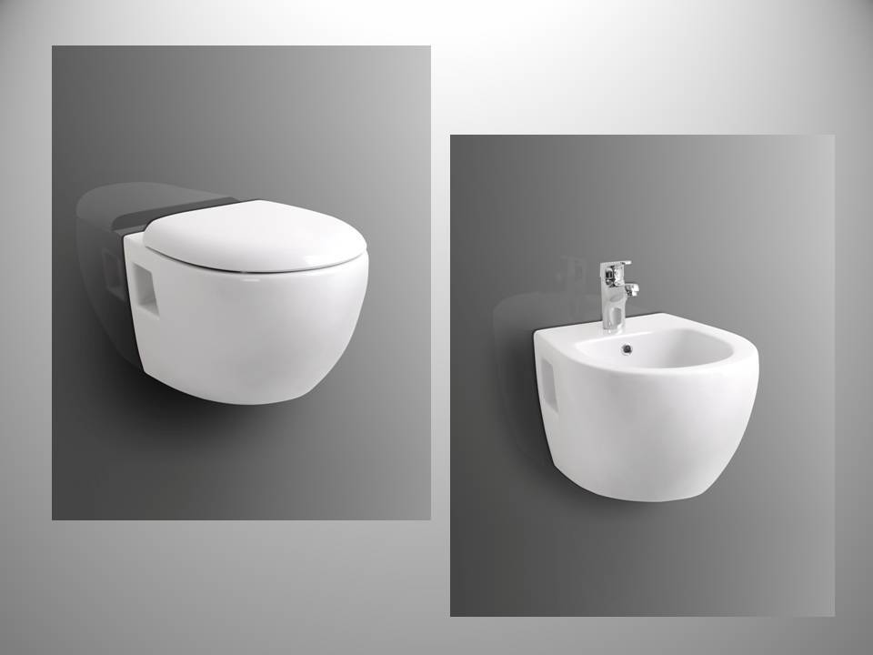 bidet und oder wand h nge wc wandh ngend weiss soft close sitz schallschutz ebay. Black Bedroom Furniture Sets. Home Design Ideas