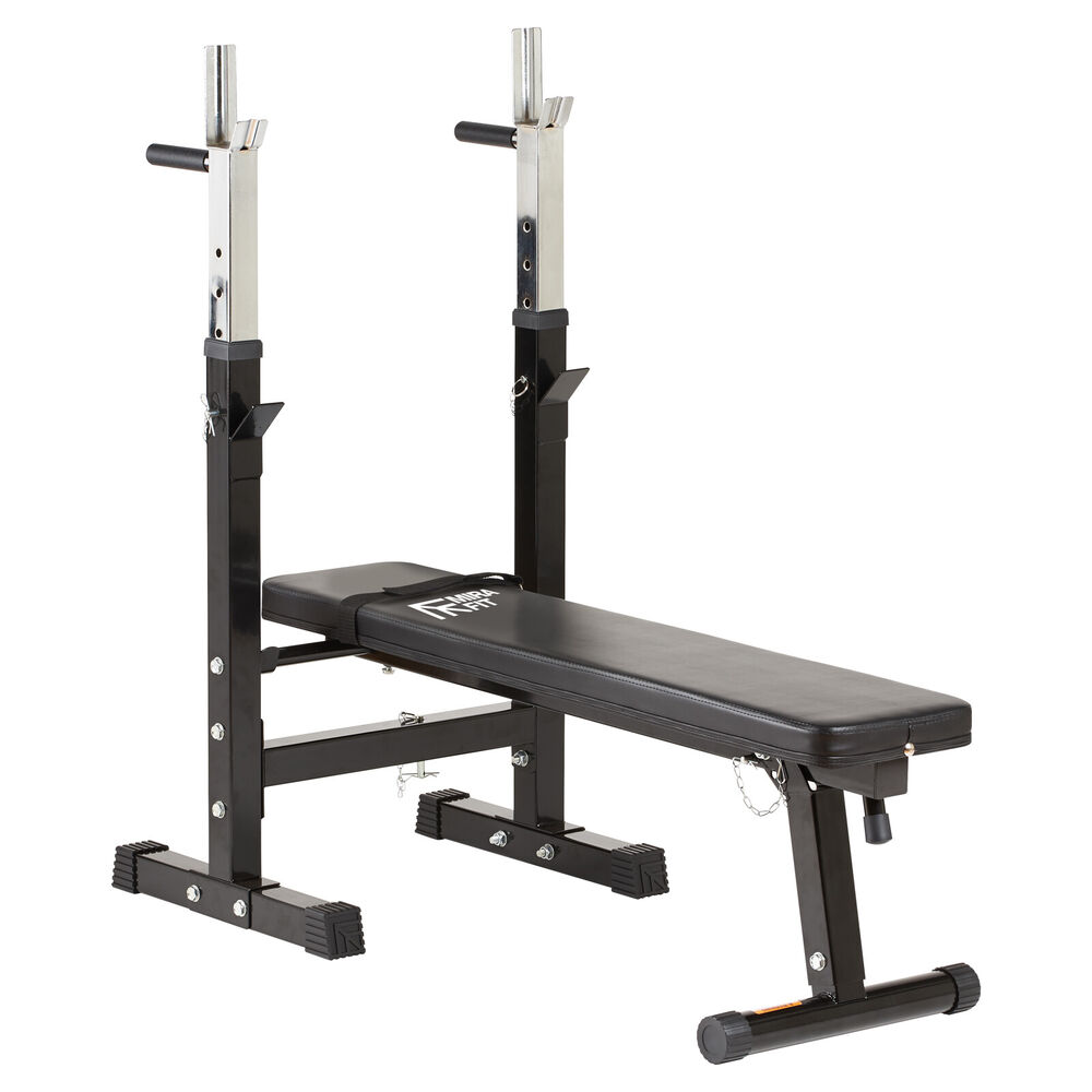 Mirafit Adjustable Folding Flat Weight Bench Dip Station Lifting Chest Press Ebay