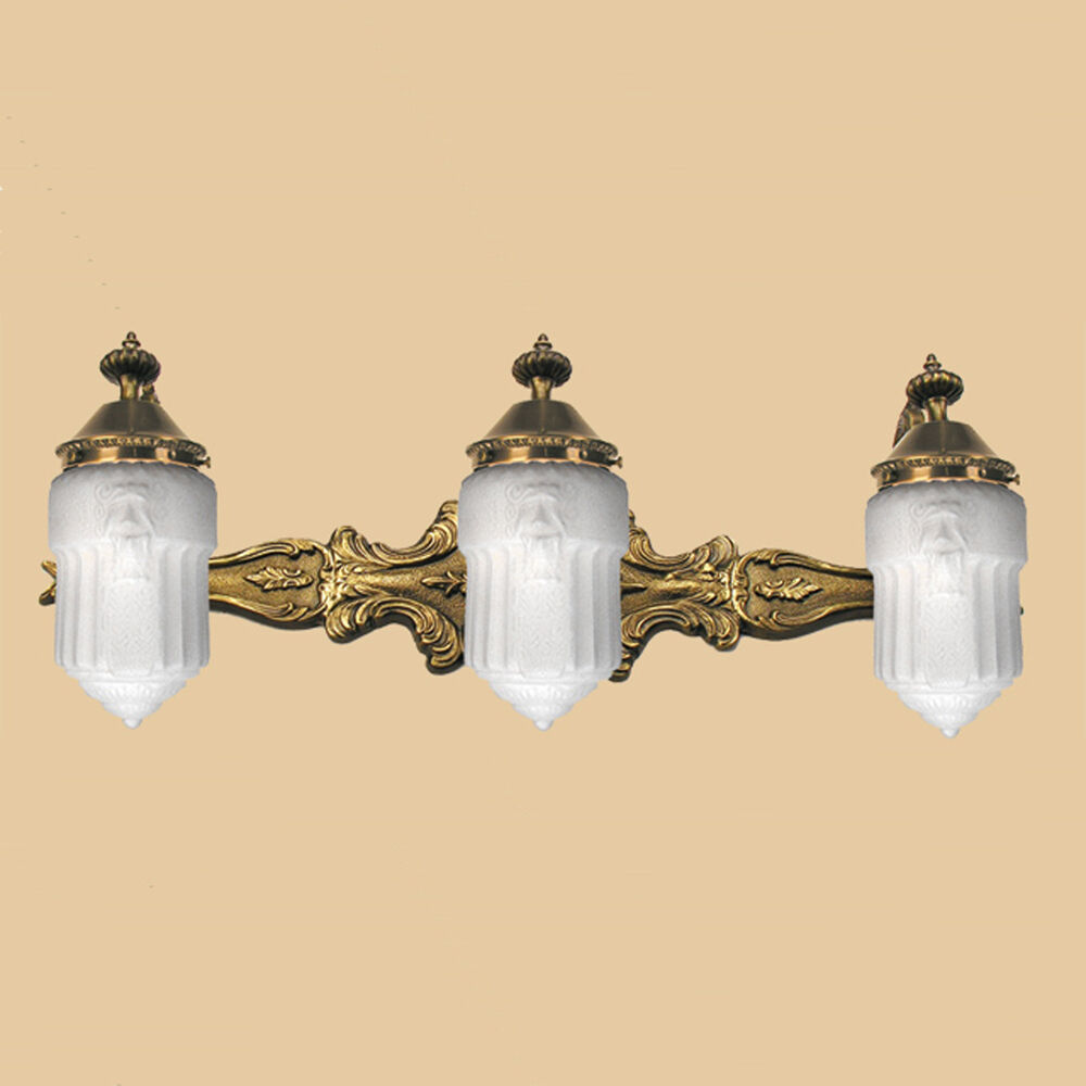 Victorian Style 3 Light Bathroom Vanity Mirror Wall Sconce Lighting 500 BATH