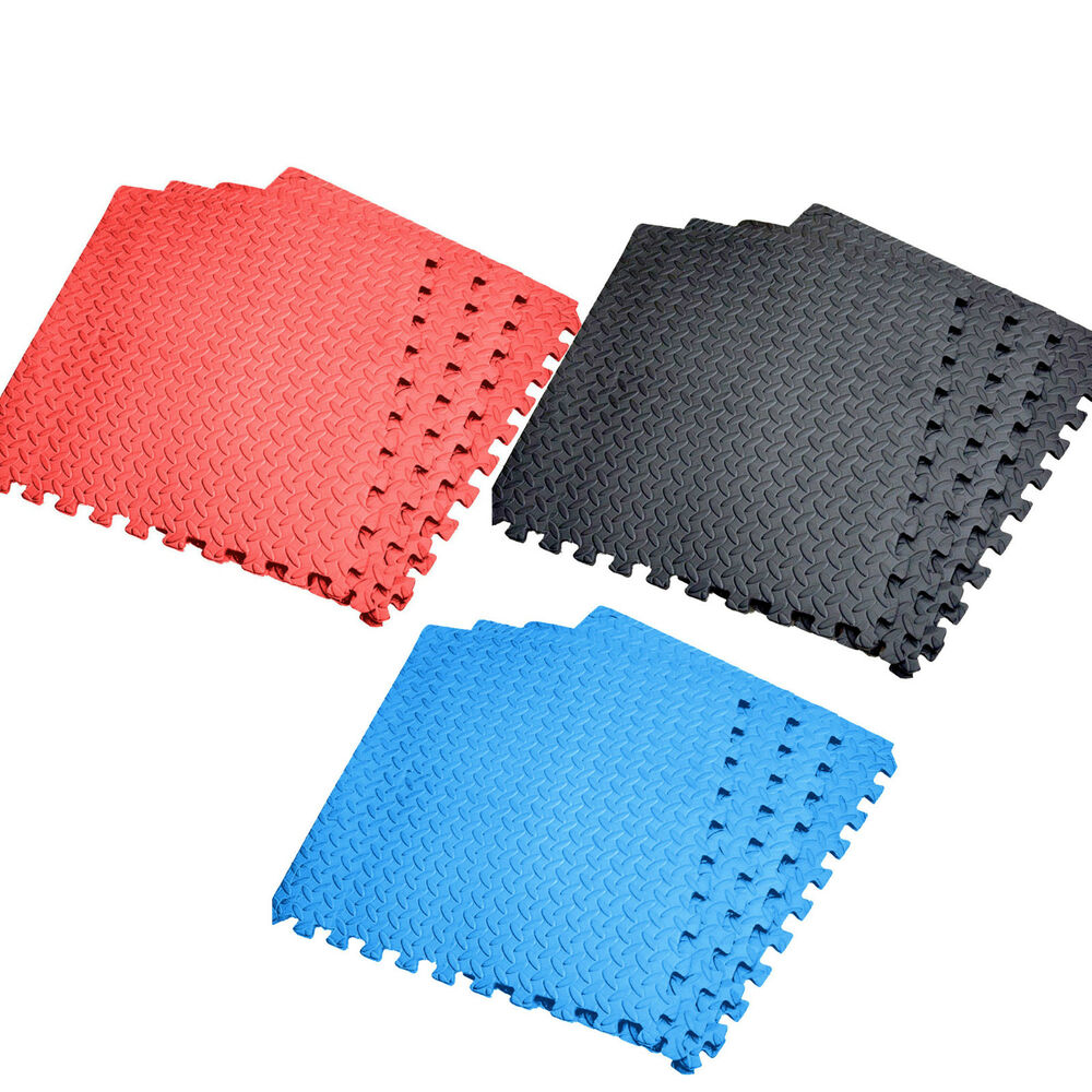 New Interlocking Soft Foam Floor Mats Gym Garage Exercise