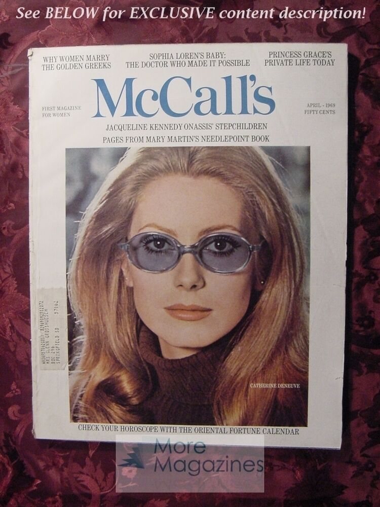 April 1969 Popular Mechanics Magazine Vacation Home Plans: McCALL's April 1969 CATHERINE DENEUVE OMAR SHARIF John