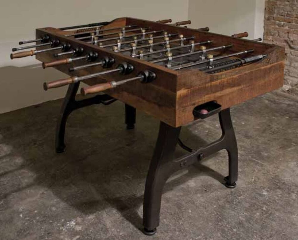 Industrial Parlor Sport Foosball Table Stone Platform Iron