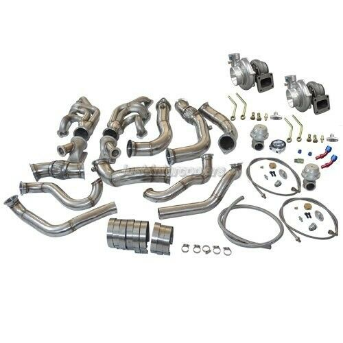 CXRacing Twin Turbo Header Kit For 63-67 Chevrolet