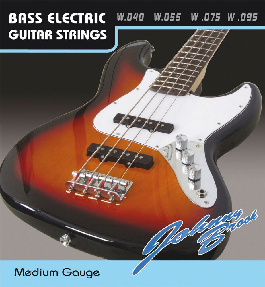 g884d johnny brook electric bass guitar strings set of 4 gauge medium g884d ebay. Black Bedroom Furniture Sets. Home Design Ideas