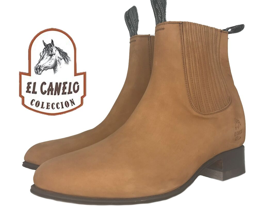 El Canelo Half Boots Ankle Suede Boots Western Wear All