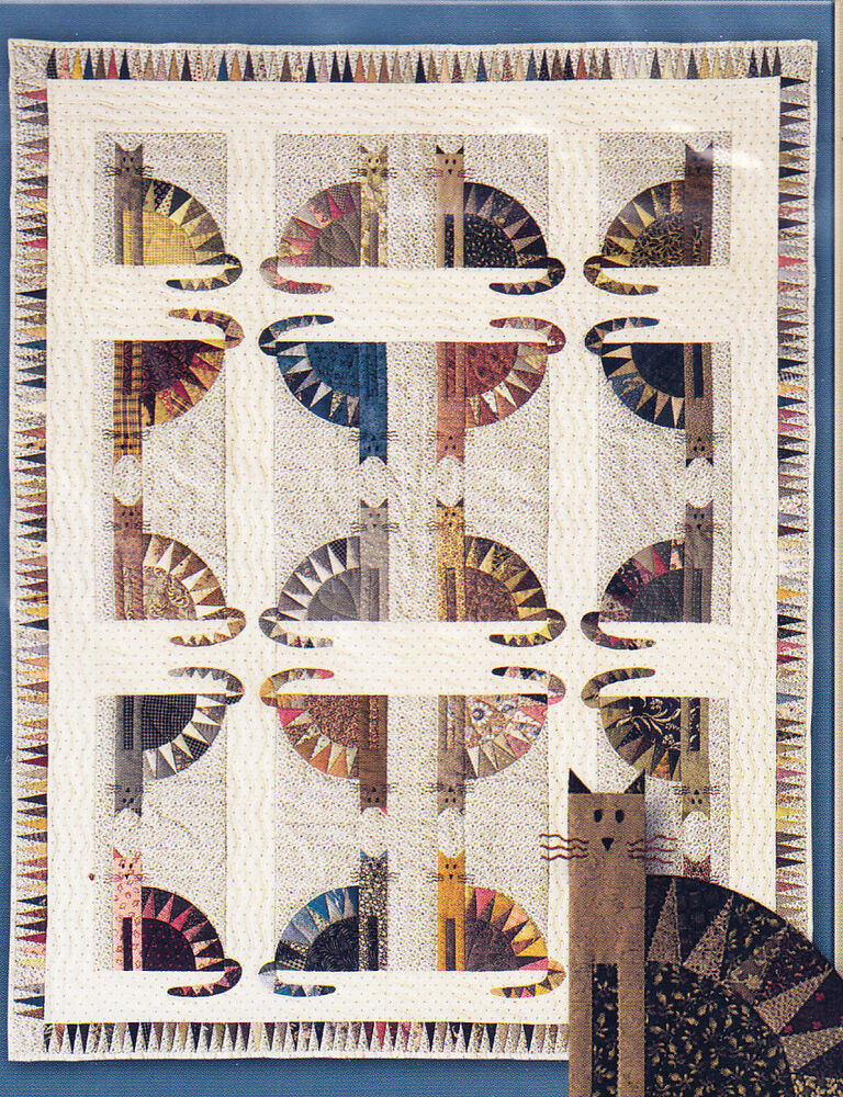 Sawtooth Cats - fabulous foundation paper pieced quilt ...