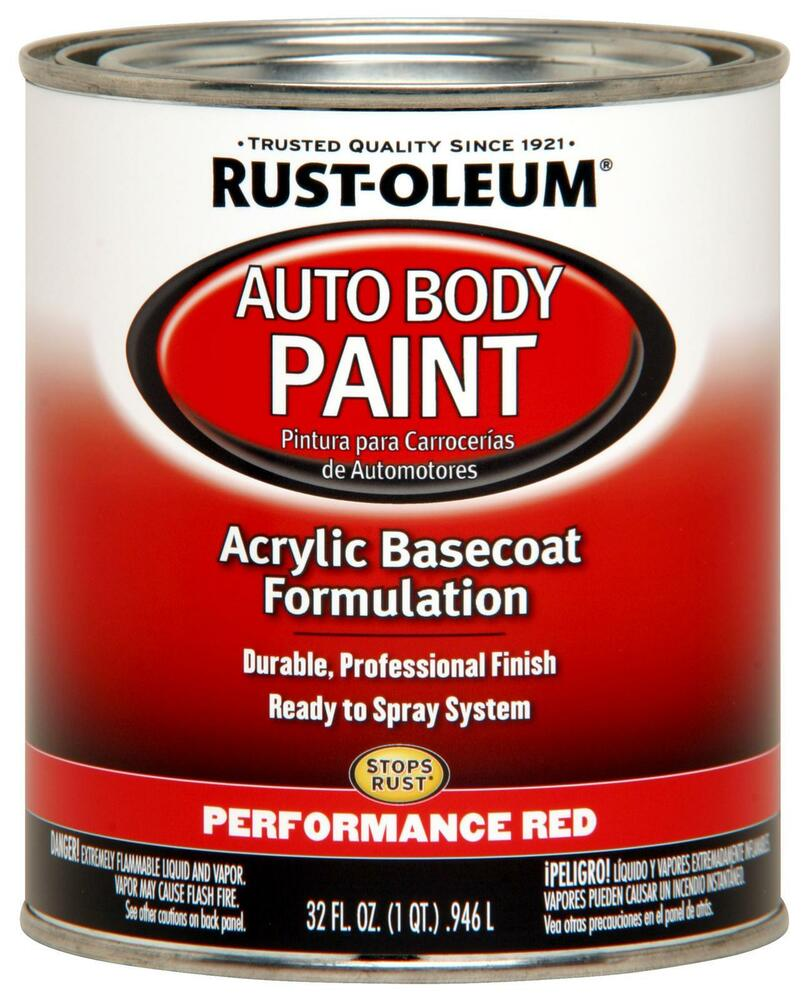 rust oleum 253502 paint acrylic base coat gloss performance red 1 qt. Black Bedroom Furniture Sets. Home Design Ideas