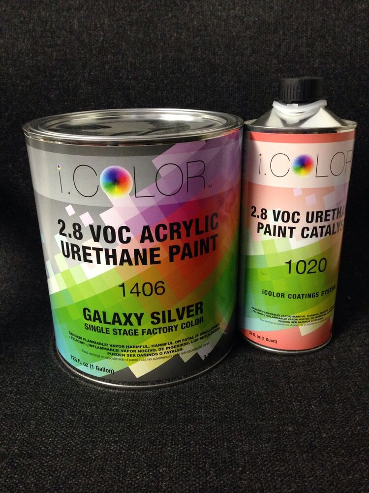 Galaxy Silver Gallon Kit Single Stage Acrylic Urethane Auto Paint Kit Ebay
