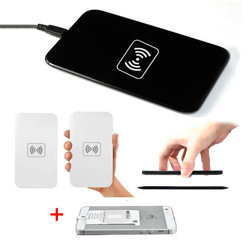 universal qi standard wireless power charger pad receiver kit for iphone 6 ilk ebay. Black Bedroom Furniture Sets. Home Design Ideas
