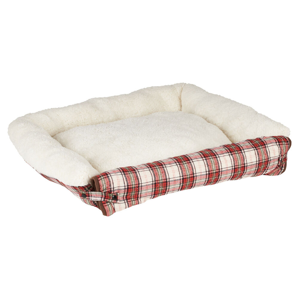 Me My Pet Check Cosy Sheepskin Fold Out Cat Dog Bed Sofa Couch Chair Protector Ebay