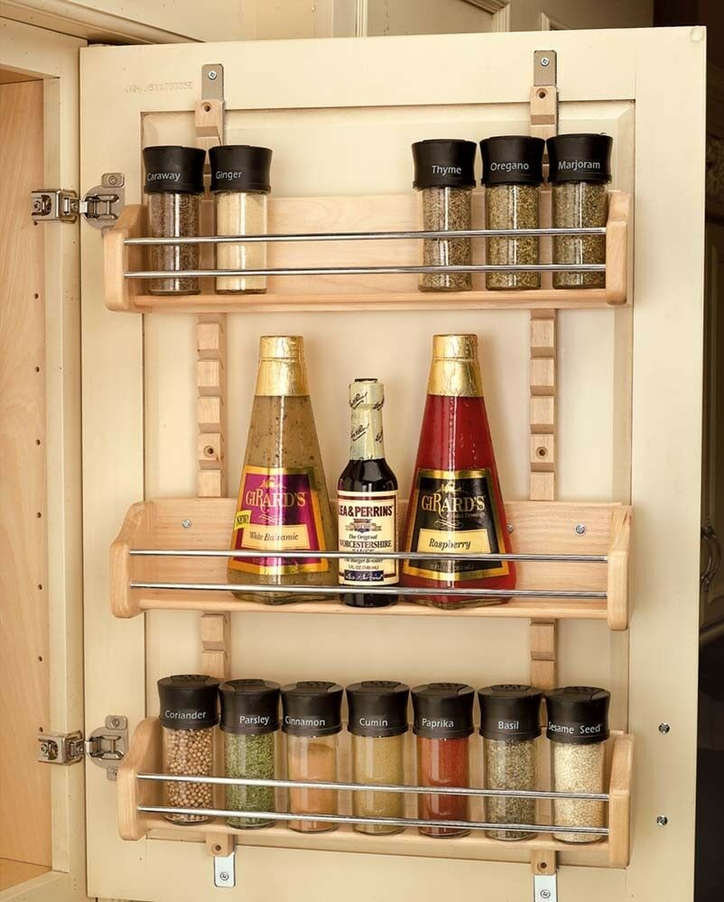 Rev A Shelf 4asr 21 Adjustable Door Mount Spice Rack Ebay
