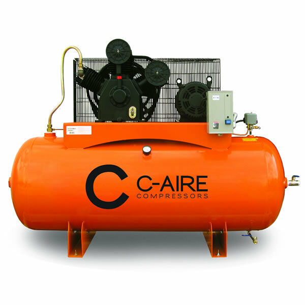 C Aire 10 Hp 120 Gallon Two Stage Air Compressor 208 230v