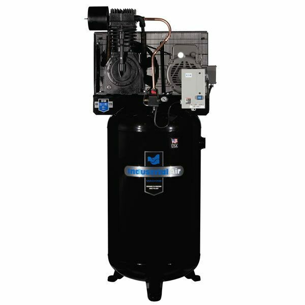 Industrial air 7 5 hp 80 gallon two stage air compressor w for 5hp air compressor motor starter