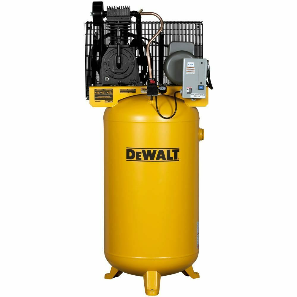 240 Volt Wiring Diagram Air Compressor : Dewalt hp gallon two stage air compressor v