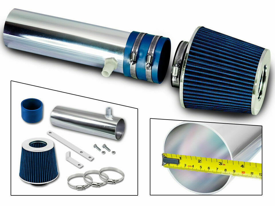 Ram Air Intake Kit Blue Filter For 94 96 Chevy Impala Ss