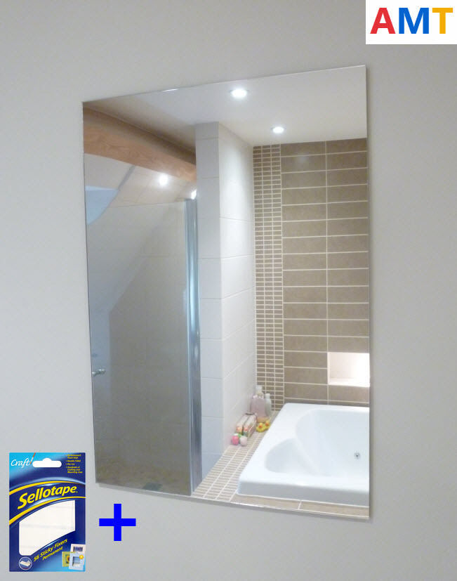Safety mirrors for bathrooms
