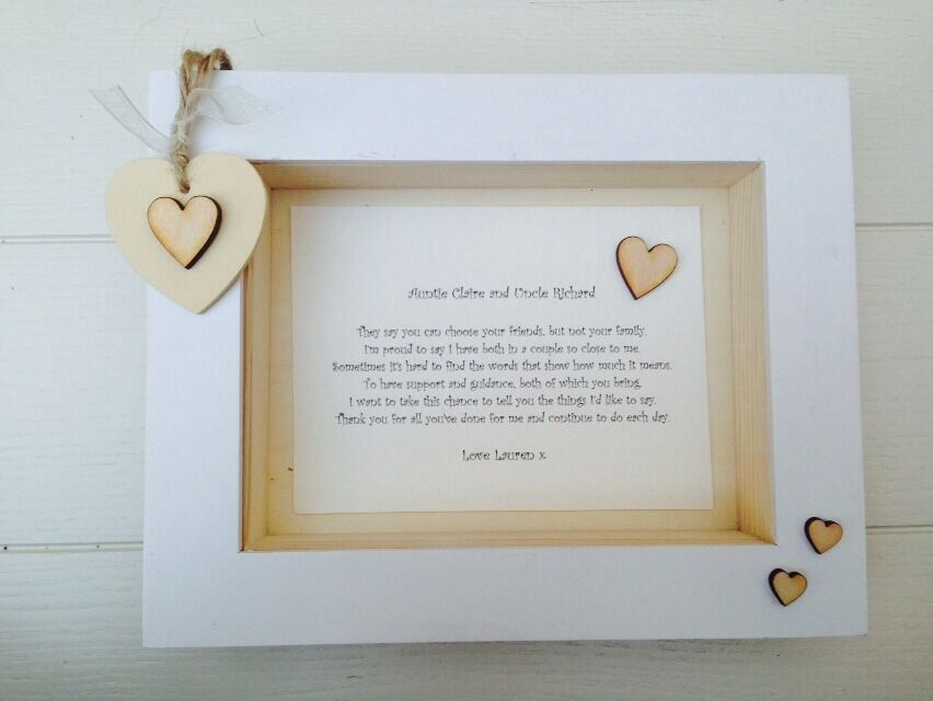 Baby Gift Ideas From Uncle : Shabby personalised chic box frame special auntie aunty