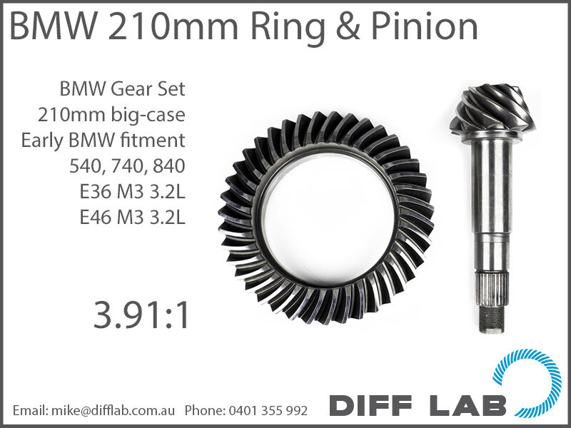 Bmw M3 M5 M6 E36 E46 E60 E92 Diff Gears Ring And Pinion