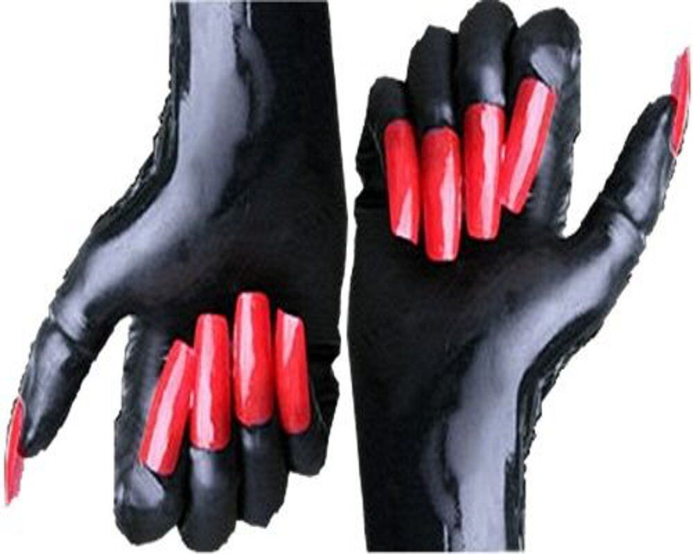 Rubber Latex Gloves Mistress With Amp Without Claws