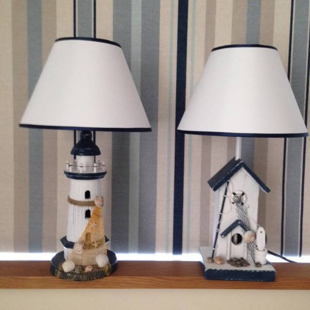 new nautical themed lamp light choice of beach hut or. Black Bedroom Furniture Sets. Home Design Ideas