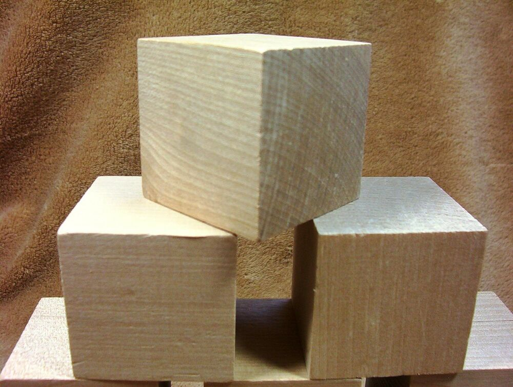 Unfinished hard wood wooden birch 2 x 2 memory cubes for Unfinished wood pieces for crafts