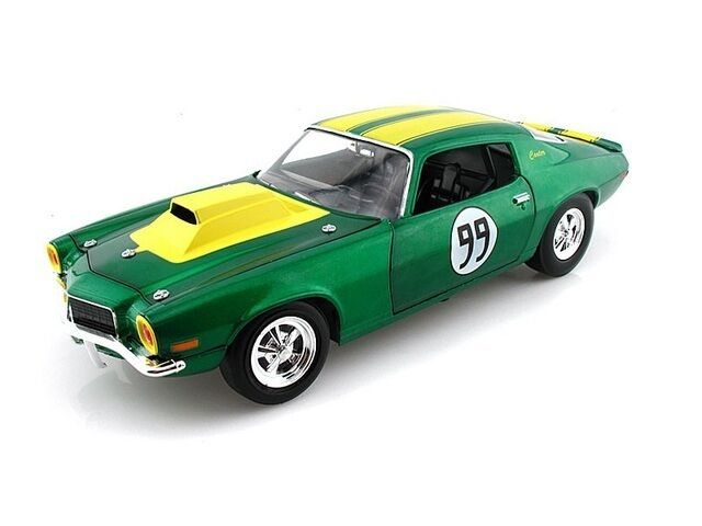 1 18 Johnny Lightning Green 1970 Cooters Camaro Dukes Of